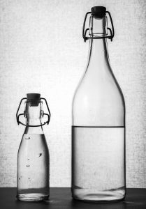 Image of two bottles of water - Colonoscopy