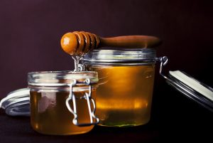 Two jars of honey, honey for healing boils