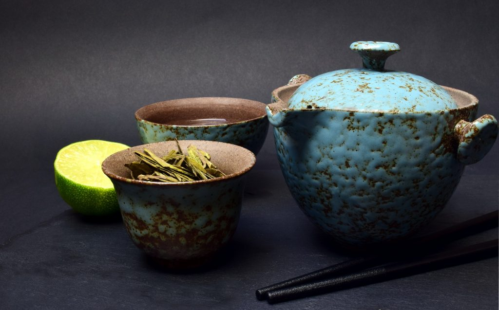 Chinese medicine - Image of herbs in pottery bowls