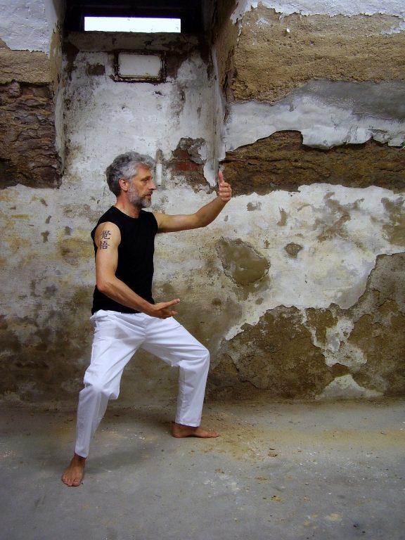 Qi Gong - A man striking a qi gong pose.