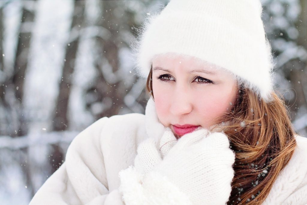 Image of a woman bundled up for the snow