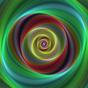Image of a colorful spiral