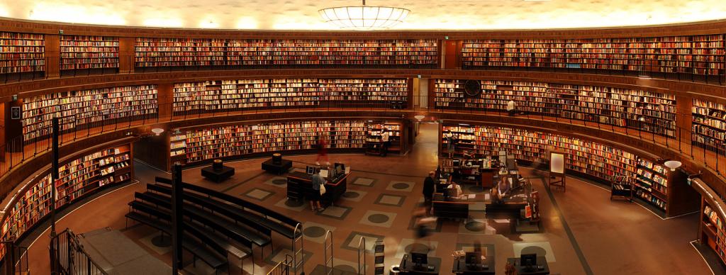 NCBI - Photo of large circular library